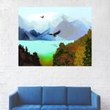 Tablou Canvas, Pictura Vultur Zburand - 20 x 25 cm
