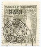 Romania, Emisiunile Cluj, LP 8e/1919, Carol si Zita, supratip. deplasat, oblit.