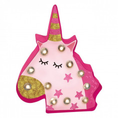Set creativ, model creeaza propriul panou LED tip unicorn, 25x5x29,5 cm