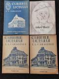 Reviste vechi Curierul liceului I.L.Caragiale, Ploiesti. Carti vechi monografie.