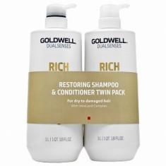 Goldwell Dualsenses Rich Repair Restoring Duo set pentru păr deteriorat 2 x 1000 ml