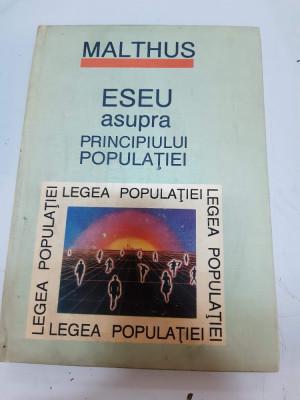 Eseu asupra principiului populatiei - Malthus foto