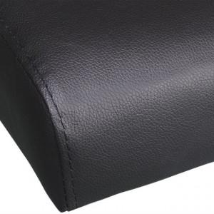 Canapea extensibilă 2 perne, piele artificială, reglabil, negru