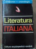 LITERATURA ITALIANA DICTIONAR CRONOLOGIC-NINA FACON, DOINA CONDREA-DERER, ANDREIA VANCI-BIRTOLON