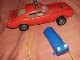 jucarie veche comunista masina de pompieri din plastic cu telecomanda,T.GRATUIT