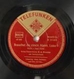 Disc ebonita patefon - gramofon Telefunken - Herz, Schmerz und dies und das..., VINIL
