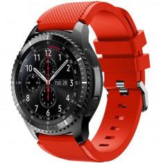 Curea ceas Smartwatch Samsung Gear S3, iUni 22 mm Silicon Red