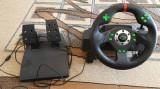 Volan si pedale racing games PC, PS3, vibratii, 12 butoane, Esperanza Drift