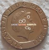Moneda 20 PENCE - MAREA BRITANIE / ANGLIA, anul 2014 *cod 5112 = EROARE SURPLUS, Europa
