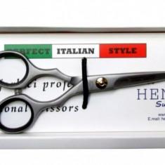 """Foarfeca de tuns 6"""" Henbor ITALIA Golden Line pentru frizerie coafor salon"""