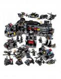 Cumpara ieftin Set de constructie pentru copii, model statie de politie, 832 piese, negru