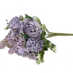 Mix flori artificiale lila