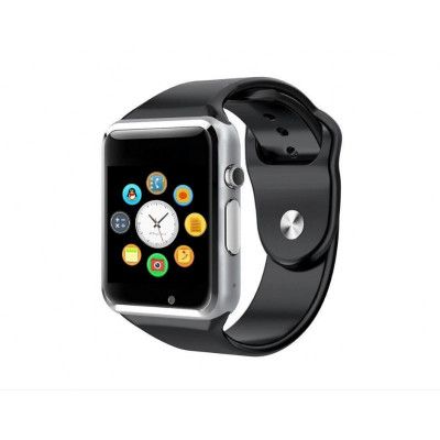 Ceas Smartwatch Techstar® A1 Argintiu cu Bluetooth, Compatibil SIM si MicroSD foto
