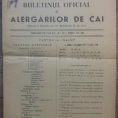 Buletinul oficial al alergarilor de cai/ 1949