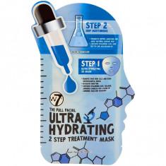 Masca tratament pentru hidratare intensa W7 Ultra Hydrating 2 Step Face Mask 23 g + 3 g
