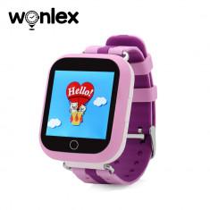 Ceas Smartwatch Pentru Copii Wonlex GW200S cu Functie Telefon, Localizare GPS, Pedometru, SOS - Mov