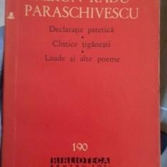 Declaratie patetica – Miron Radu Paraschivescu