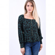 Bluza Object Anime Trend Verde Inchis, 34, 36, 38, 40, 42