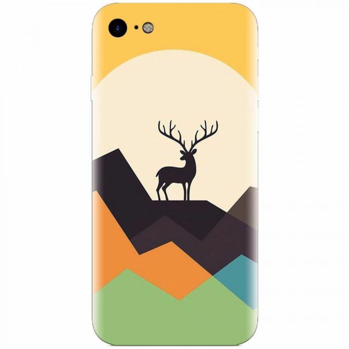 Husa silicon pentru Apple Iphone 8, Abstract Deer