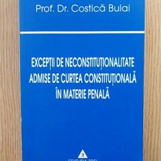 EXCEPTII DE NECONSTITUTIONALITATE ADMISE IN MATERIE PENALA- COSTICA BULAI