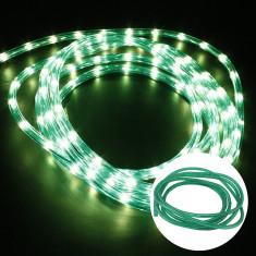 Furtun luminos cu LED, diametru 12 mm, verde