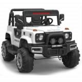 Masinuta Electrica Jeep Defpower 4x4 cu 2 Locuri, Telecomanda si Functie MP3 Alb