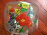Vintage Abajur pentru lampa sau lustra model deosebit cu flori dimensiuni mari !