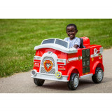 Masinuta Electrica de pompieri Paw Patrol Kid Trax 6V SSO1052, 4-6 ani, Unisex, Rosu