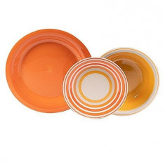 Set serviciu masa ceramica 18buc Kiklos Arancio Handy KitchenServ