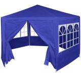Marchiză cu 6 pereți laterali, 2 x 2 m, albastru