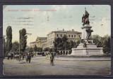 BUCURESTI   MONUMENTUL BRATIANU  SI  UNIVERSITATEA  CIRCULATA 1914 U.P.U.