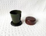 Paharel de voiaj din bachelita, pahar vechi de colectie anii 50