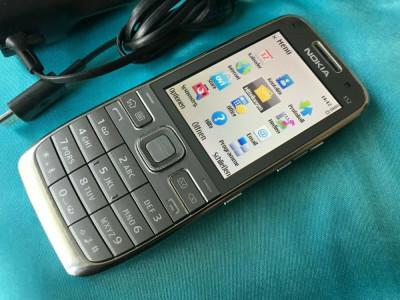 Nokia E52-1 liber Necodat smartphone ireprosabil culoare gri/silver foto