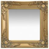 Oglindă de perete în stil baroc, auriu, 40 x 40 cm, vidaXL