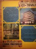 1972, Reclama Magazin TRIVALE, comunism 27x20 cm PITESTI / Rest. Cornul Vanatoru