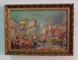 Impresionism, deosebit! Pictură pe pânză de Mateescu 1910