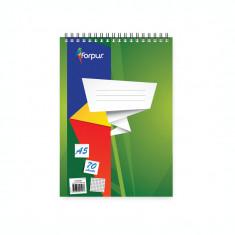 Bloc notes A5 cu spira Forpus 42302 70 file linii