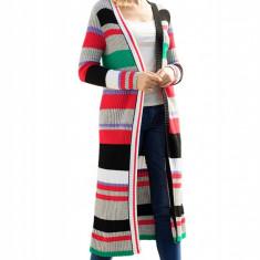 A737-183 Cardigan lung cu model multicolor, L, M, M/L, S/M