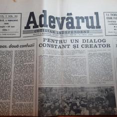 ziarul adevarul 3 februarie 1990