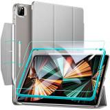 Cumpara ieftin Set husa si folie de protectie ESR Ascend Trifold compatibil cu iPad Pro 12.9 inch (2021) Grey