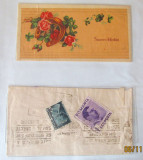 Felicitare onomastica 1934, plic postal timbrat Carol al II-lea.Bistrita-Nasaud.