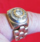 Inel zale flexibile Rolex Style 16 diamante
