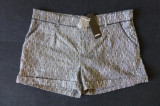 Pantaloni scurti eleganti Zoul, culoare Black Metallic;marime 42,vezi dimensiuni