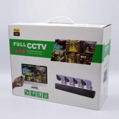 Kit de supraveghere HD 4 camere AHD FULL CCTV