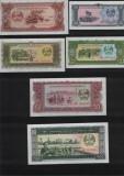Set / Lot Laos 1+5+10+20+50+100 kip 1979 necirculate