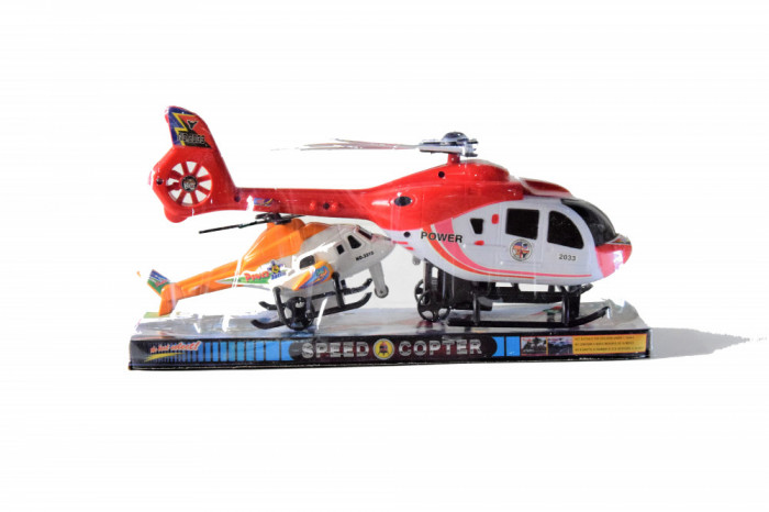Set salvare Speed Copter elicopter+ Mini elicopter 2 piese 30x15 cm