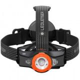 Lanterna frontala Led Lenser MH11 Black-Orange cu Bluetooth, 1000 lumeni