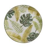 Platou ceramica Green Leaf 26 cm