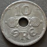 Moneda 10 ORE - DANEMARCA, anul 1942 *cod 1086 - OCUPATIE NAZISTA!, Europa, Zinc