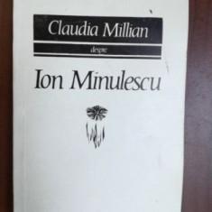 Despre Ion Minulescu- Claudia Millian